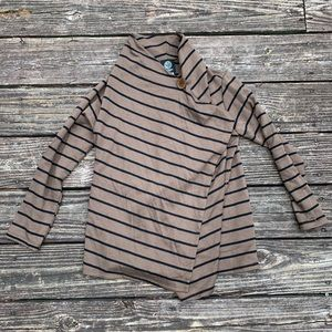 🍍Bobeau | Tan Stripe Wrap Around Top Size XSP